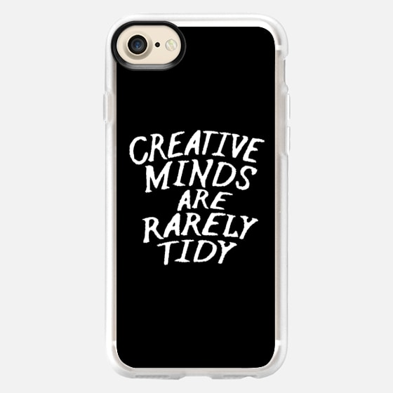 Creative Minds Are Rarely Tidy (Black & White) - Wallet Case