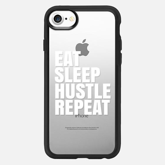 Eat Sleep Hustle Repeat (Transparent & White) - Classic Grip Case