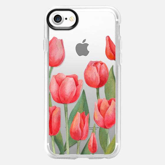 Watercolor Tulips. Spring Flowers - Wallet Case