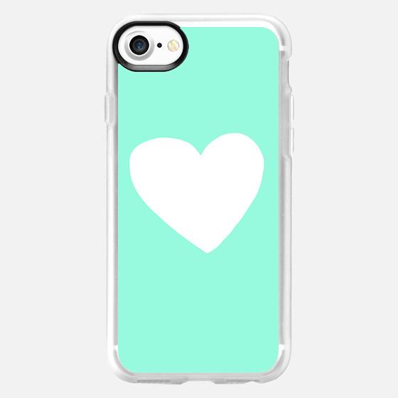 Mint Heart - Wallet Case