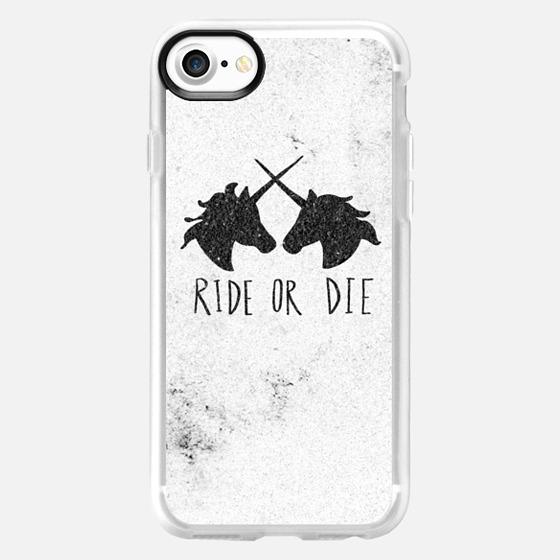 Ride or Die Unicorns Wood Case - Wallet Case
