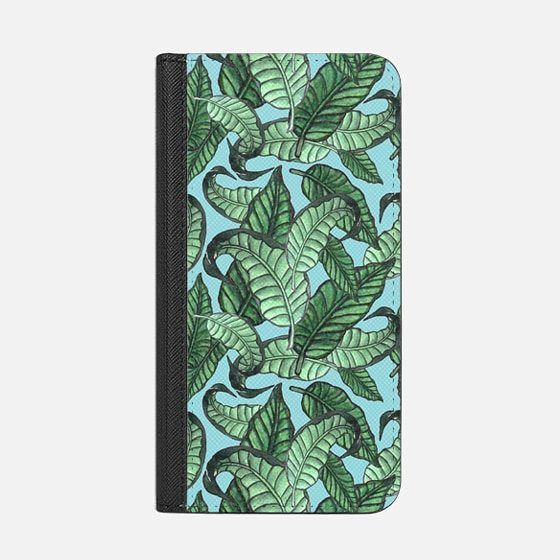 Leaves n. 1 in pale blue - Wallet Case