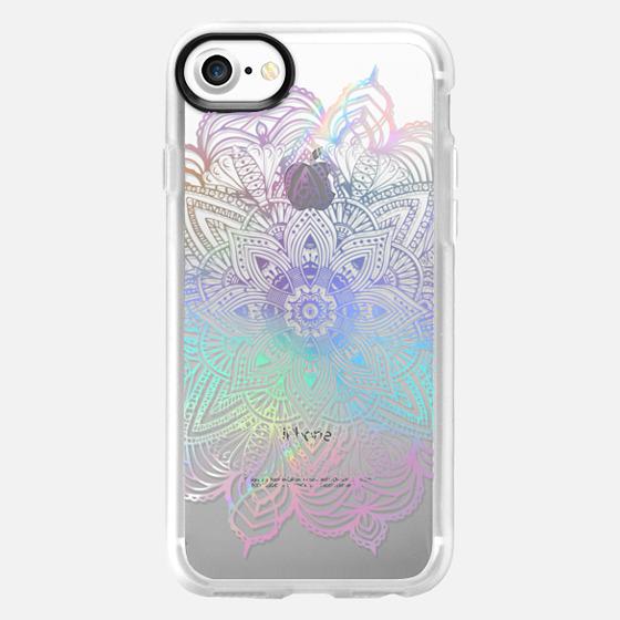 Rainbow Holographic Mandala Lace Explosion - Wallet Case