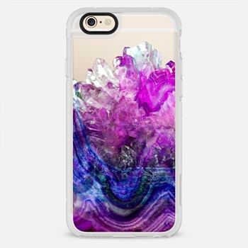 iPhone 6 Case Purple Amethyst Marble