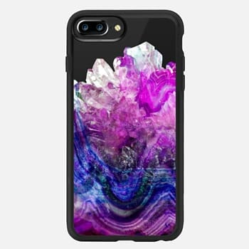 iPhone 7 Plus Case Purple Amethyst Marble