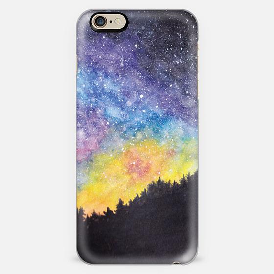 Starry Night Sky - Watercolor -