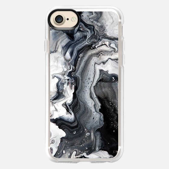 black and white marble - Classic Grip Case