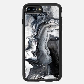 iPhone 7 Plus Case black and white marble