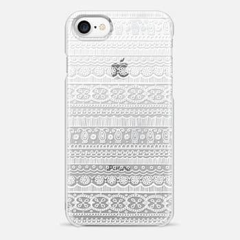 iPhone 7 Case PRETTY LACE PATTERN (WHITE)