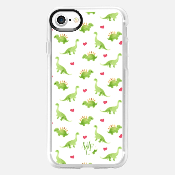 Dinosaur Love - Watercolour Painted Case by Wonder Forest -