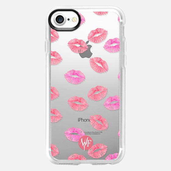 Kiss Kiss - Transparent Watercolor Case by Wonder Forest - Wallet Case