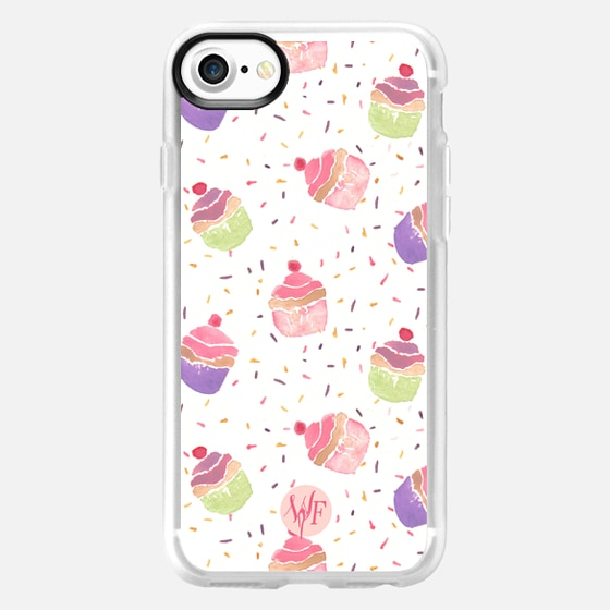 Hooray For Cupcakes  - Watercolor Painted Case by Wonder Forest -