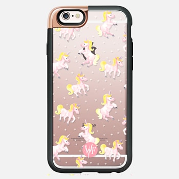 iPhone 6s Case Magical Unicorns Transparent Case by Wonder Forest
