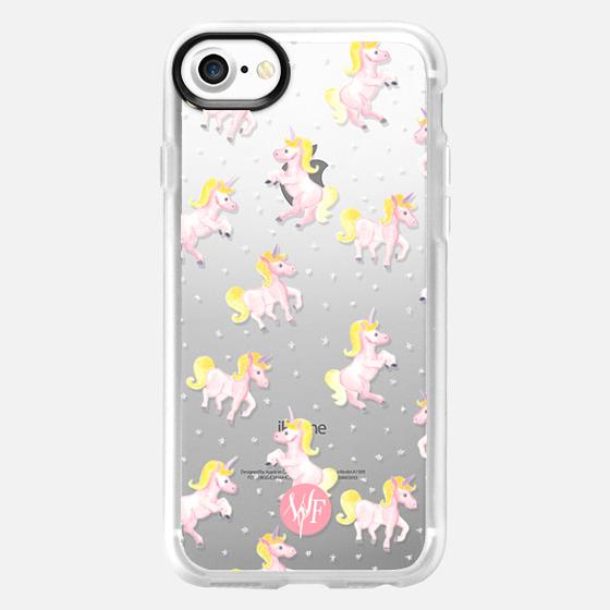 Magical Unicorns Transparent Case by Wonder Forest - Wallet Case