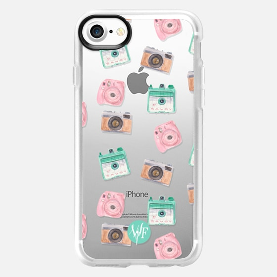 Camera Collector Clear Pink by Wonder Forest - Wallet Case