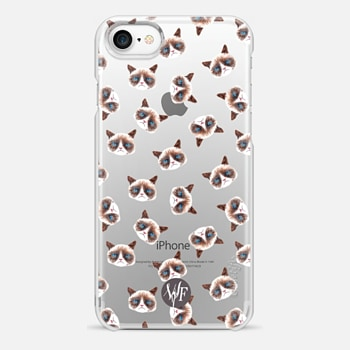 iPhone 7 Case Sour Puss Clear by Wonder Forest