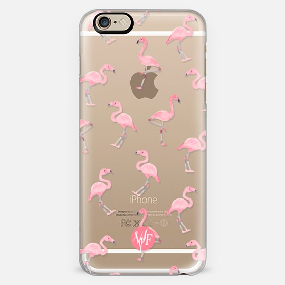 Pink Flamingos by Wonder Forest Clear Case - Classic Snap Case
