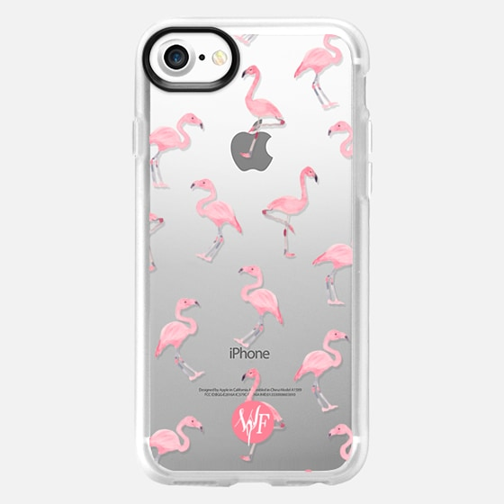 Pink Flamingos by Wonder Forest Clear Case - Wallet Case