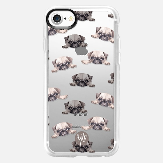 Pouty Pugs Clear Case by Wonder Forest - Wallet Case