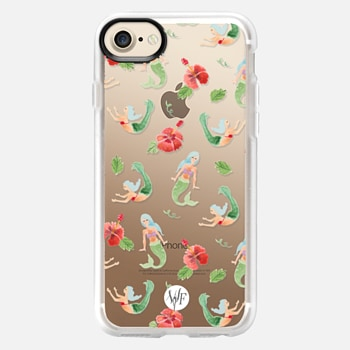 iPhone 7 Case Mystical Mermaids Clear by Wonder Forest