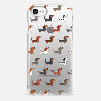 iPhone 7 Case DACHSHUNDS (Clear)