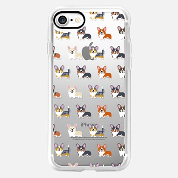 iPhone 7 Case Corgis (Clear)