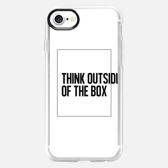 THINK OUTSIDE OF THE BOX. Always. - Wallet Case