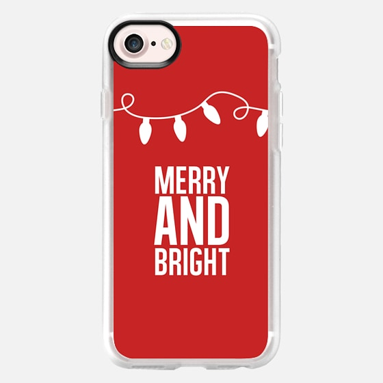 Merry + Bright. Red. - Wallet Case