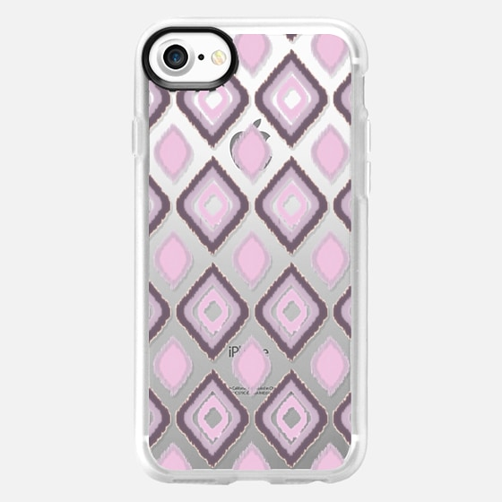 GIBSY IKAT IN PINK - CRYSTAL CLEAR PHONE CASE -