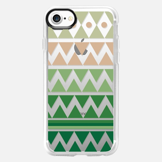 Emerald Tribal Chevron - Crystal Clear Phone Case - Wallet Case