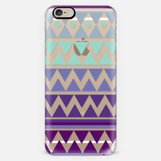 PURPLE TRIBAL CHEVRON - Crystal Clear Phone Case -