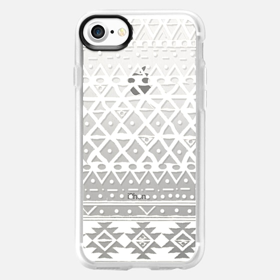 WHITE TRIBAL - PHONE CRYSTAL CLEAR CASE - Wallet Case