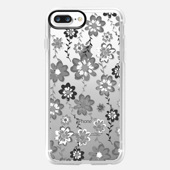 GIRLY FLORAL - CRYSTAL CLEAR PHONE CASE -