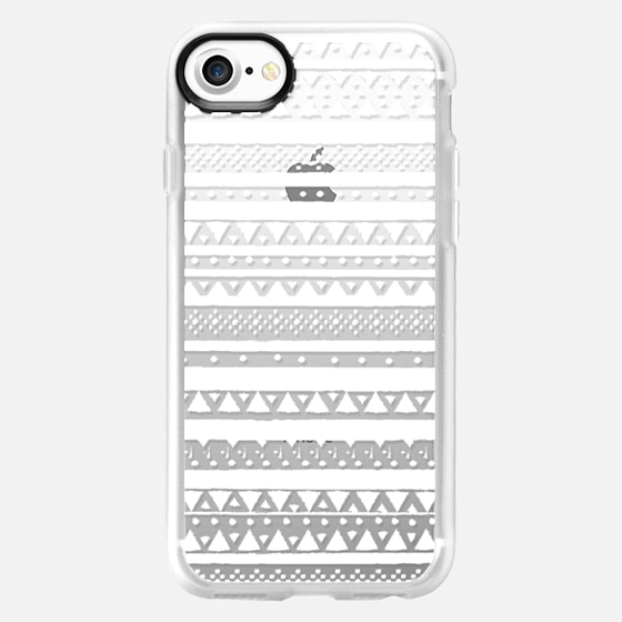 WHITE TRIBAL - CRYSTAL CLEAR PHONE CASE - Wallet Case
