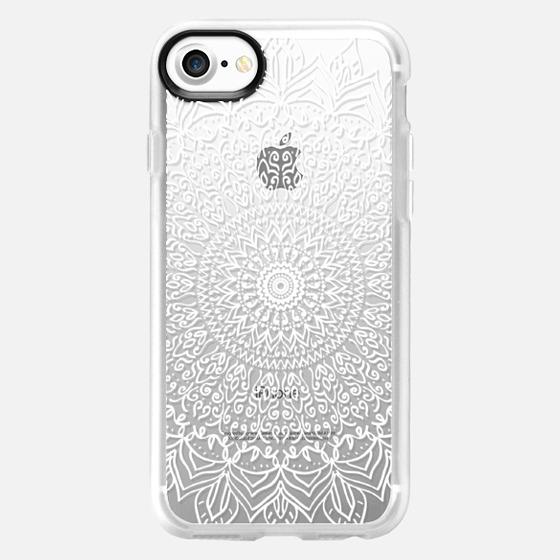 BOHO WHITE MANDALA - CRYSTAL CLEAR PHONE CASE - Wallet Case