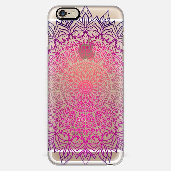 HAPPY BOHO MANDALA - CRYSTAL CLEAR PHONE CASE -