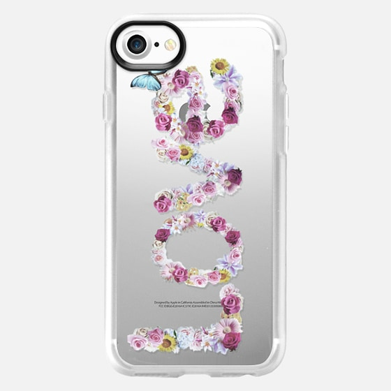 FLORAL LOVE - CRYSTAL CLEAR PHONE CASE -