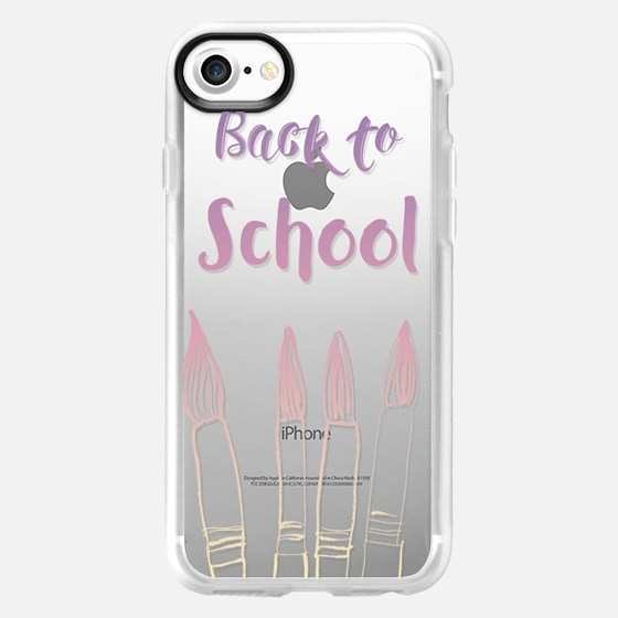 BACK TO SCHOOL IN PASTELS - CRYSTAL CLEAR PHONE CASE -