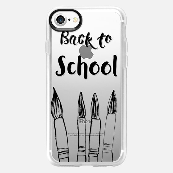BACK TO SCHOOL in black - Crystal Clear Phone Case - Wallet Case