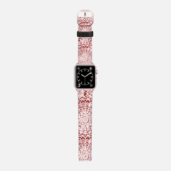PASSION FESTIVAL MANDALAS - APPLE WATCH BAND - Saffiano Leather Watch Band