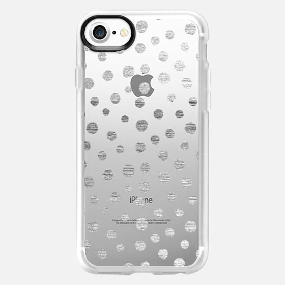 SILVERED DOTS - PHONE CRYSTAL CLEAR CASE - Classic Grip Case