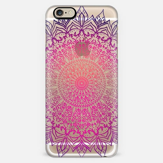 HAPPY BOHO MANDALA - CRYSTAL CLEAR PHONE CASE -