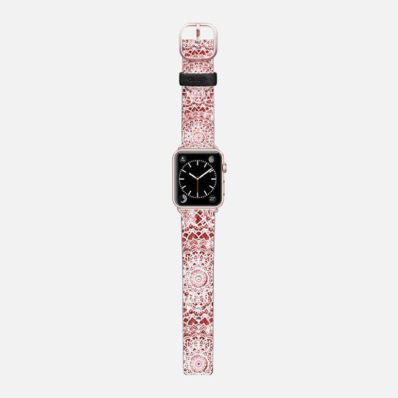PASSION FESTIVAL MANDALAS - APPLE WATCH BAND - Saffiano Leather Watch Band