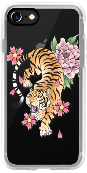 TIGER & FLOWERS