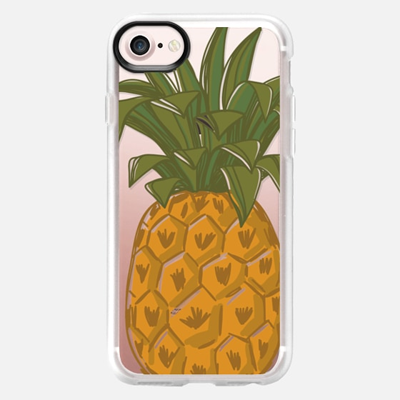 Hand Drawn pineapple. Fresh fruit print. Hello summer - Classic Grip Case
