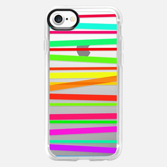 Watercolor Rainbow Stripes - Transparent/Clear style -