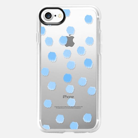 Sky Blue Dots - Transparent/Clear Background - Wallet Case