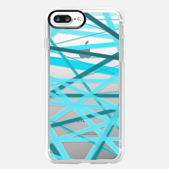 Ocean Jumble Lines - Transparent/Clear Background -