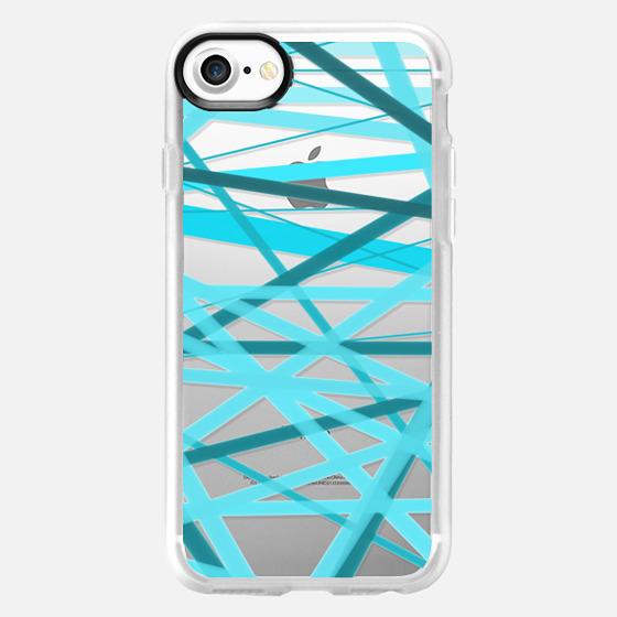Ocean Jumble Lines - Transparent/Clear Background - Wallet Case