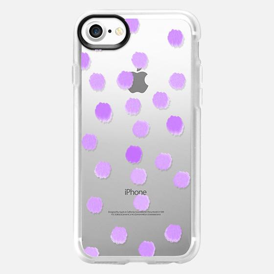 Lola Lavender Dots - Transparent/Clear background - Wallet Case